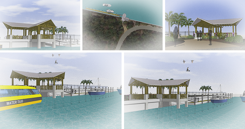 Floating Boat Dock Rendering Hugh Taylor Birch State Park