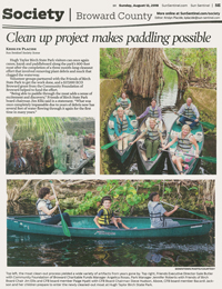 Sun Sentinel August 2018 Society Clean Up Project Makes Paddling Possible