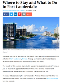 Travel-Pulse Destination and Tourism Where to Stay and What to Do in Fort Lauderdale