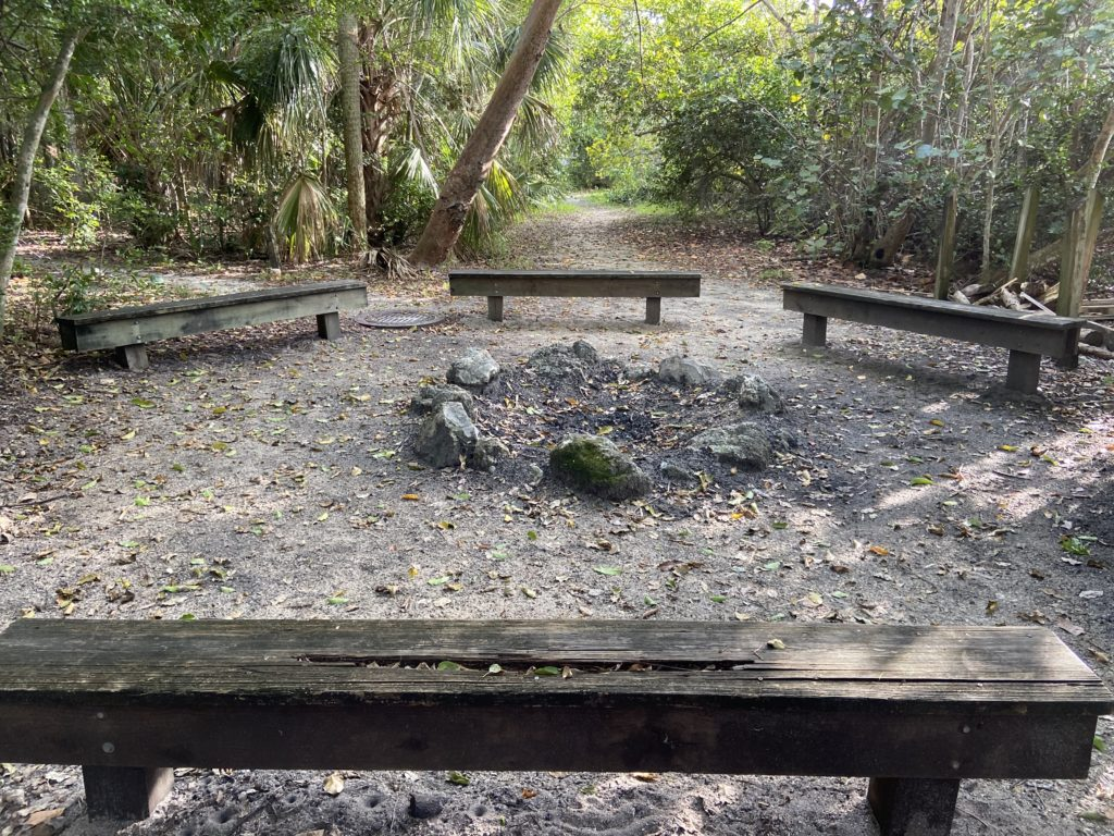 Elk's Youth Camp Benches and Fire Pit