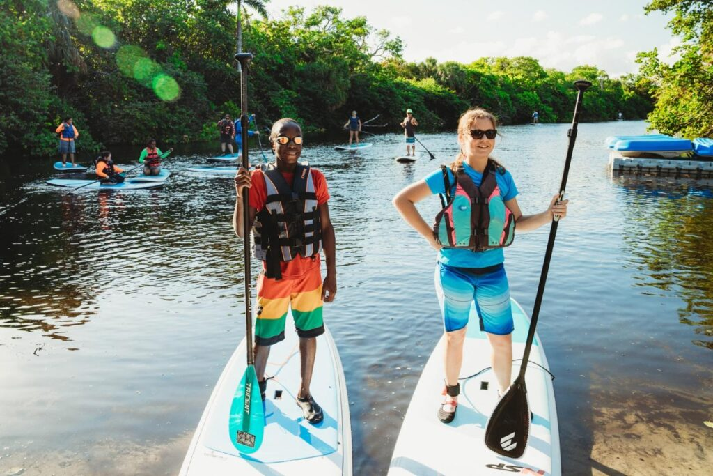 Picture of people on paddleboards