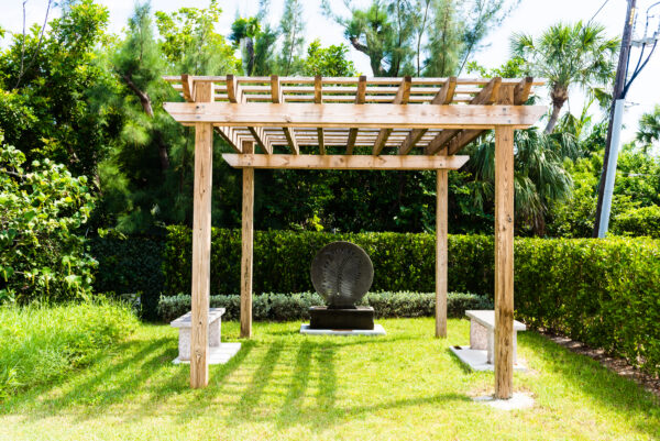 The pergola in Marti's Meditation Garden