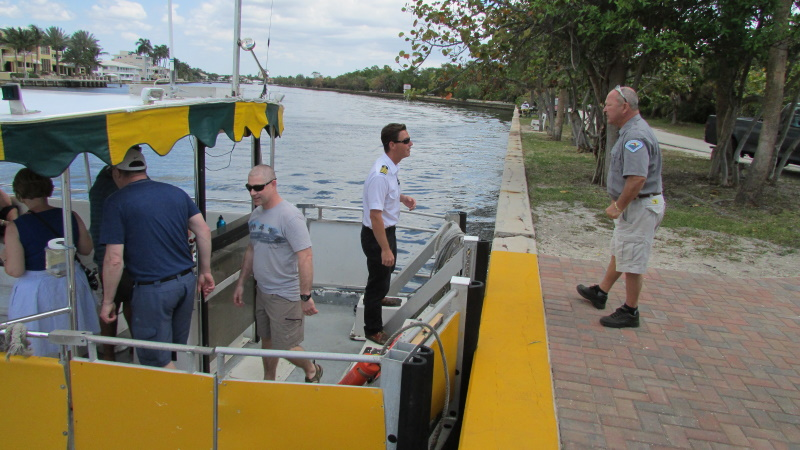 Boarding the Water Taxi