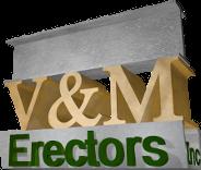Camp Birch Sponsor V&M Erectors logo