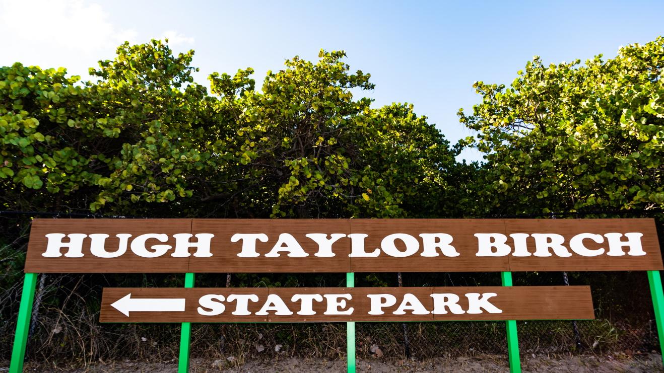 New Birch State Park Retro Sign